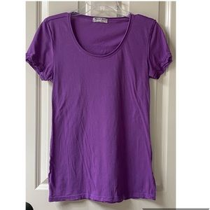Michael Stars purple shirt sleeve t-shirt